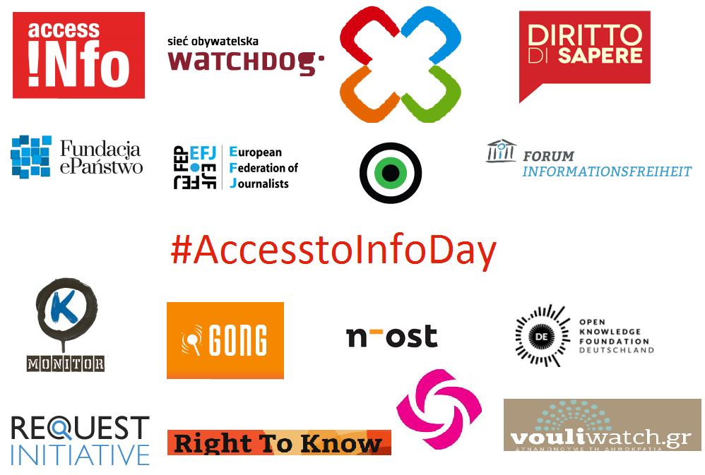 Statement by European RTI Community on the world's First Official Access to Information Day!