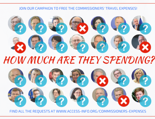 Requesters appeal to EU Ombudsman for access to Commissioners' expenses