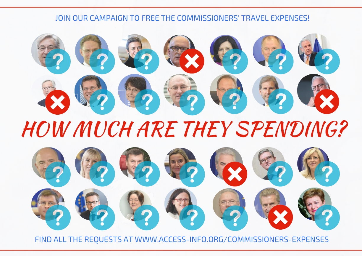 Commissioners' Expenses Campaign Update: EU continues to refuse to recognise requests