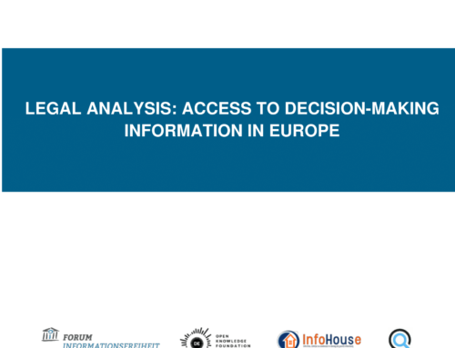 Legal Analysis: Access to Decision-Making Information in Europe