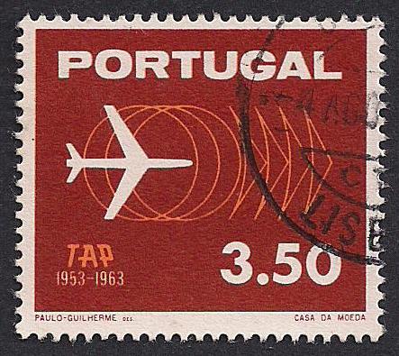 Portugal-Stamp-1963-Plane