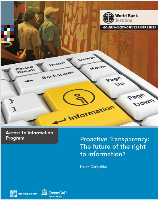 Proactive Transparency Report