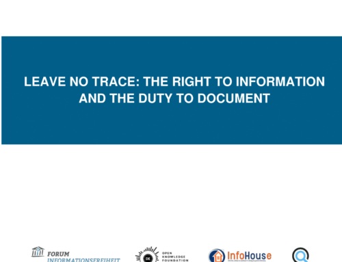 Leave no trace: the right to information and the duty to document